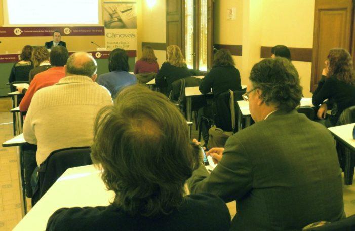 Seminari sobre novetats fiscals celebrat a la Cambra de Comerç de Sant Feliu