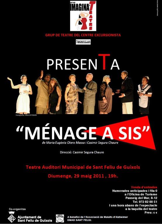 """Teatre a Sant Feliu: """"Ménage a Sis"""""""