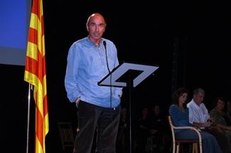 Ple al Teatre en la presentació del Baix Empordà per la Independència