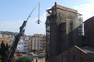 La Torre del Corn del Monestir recupera el seu sentit original