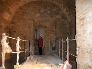 Dimarts es va fer una visita a les obres de les torres del Monestir de Sant Feliu