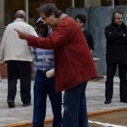 La pluja no va evitar la celebració del Correllengua a la plaça Salvador Espriu