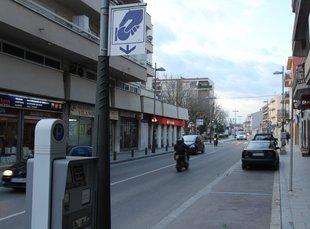 L'alcalde de Santa Cristina vol un control regular de la zona blava