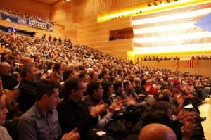 La representació ganxona assisteix a l'Assemblea Nacional Catalana a Girona