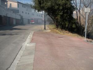La ràpida intervenció dels bombers sufoca un sobtat incendi a Les Bateries
