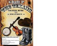"""Fiesta Country con Música en Vivo: """"The Texans"""" – Country Music Group –"""