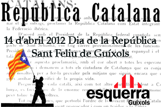 ERC i les JERC Guíxols commemoraran la proclamació de la República