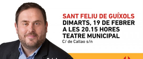 Dimarts, Oriol Junqueras a Sant Feliu