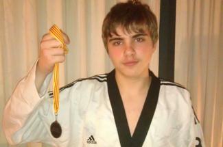 Pol Fernández del club Taekwondo A Punt medalla de bronze a l´Open Internacional