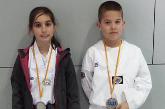 El club Taekwondo A Punt al Campionat de Catalunya de tècnica infantil