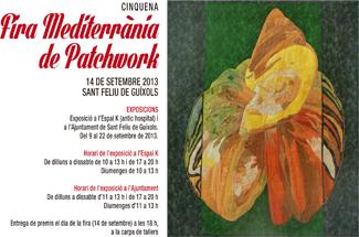Obert el període d´inscripció a la 5a edició de la Fira Mediterrània de Patchwork