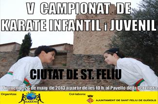 5è Campionat de Karate infantil i juvenil Ciutat de Sant Feliu