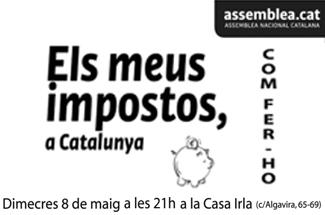 Guíxols per la Independència organitza una xerrada sobre Els nostros impostos a Catalunya