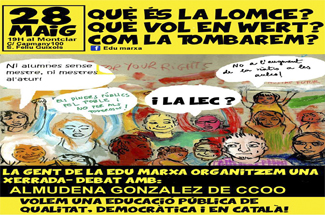 El col·lectiu Edu Marxa organitza una xerrada sobre la LOMCE