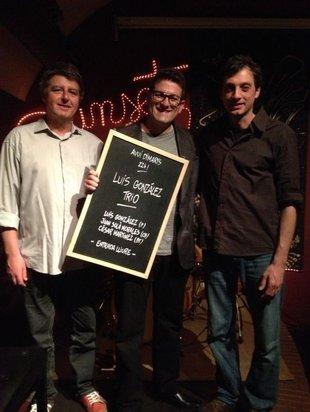 El trio de Luis González grava un disc al Sunset