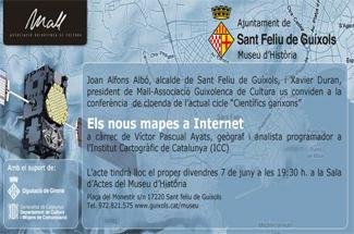 Conferència Els nous mapes a internet, al Museu d´Història de la ciutat