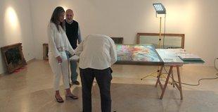 Arribada d'obres a l'espai Thyssen de Sant Feliu