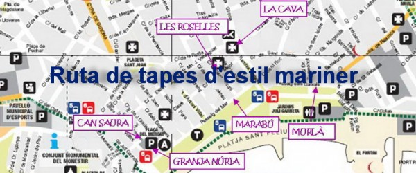 Ruta de tapes d'estil mariner a SFG