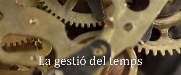 """JORNADA DE FORMACIÓ """"GESTIÓ DEL TEMPS"""""""