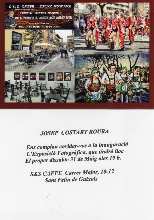 Josep Costart exposa les seves fotografies sobre el carnaval guixolenc