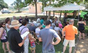 Concentració pel centre de dia a Santa Cristina