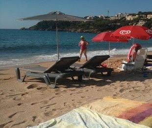Queixes a la platja de Sant Pol per unes gandules arran de mar