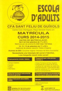cartell escola d'adults setembre 2014