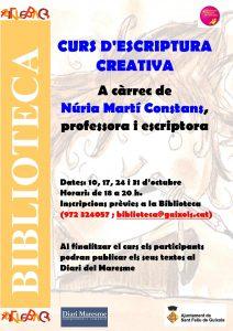 Curs d'escriptura Octubre 2014