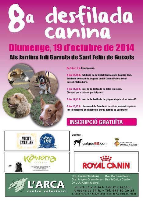 El diumenge 19 d'octubre Desfilada Canina als Jardins Juli Garreta