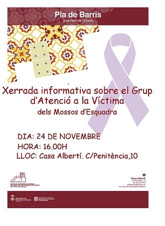 XERRADA INFORMATIVA SOBRE EL GRUP DE SUPORT A LA VÍCTIMA DELS MOSSOS D'ESQUADRA