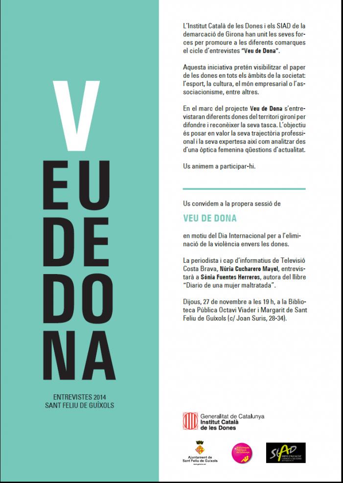 """VEU DE DONA: Entrevista a l'autora del llibre """"Diario de una mujer maltratada"""""""