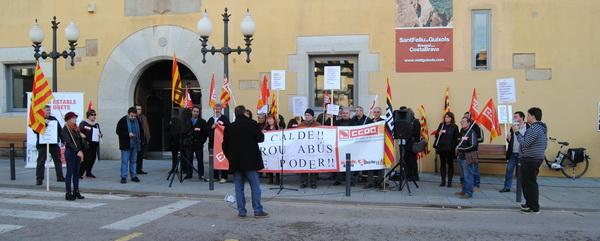 El govern de Sant Feliu impedeix l´assemblea laboral que volia fer CCOO