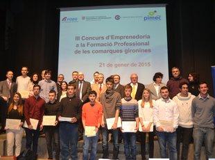 Premien l'emprenedoria dels alumnes de FP de tres centres d'Olot