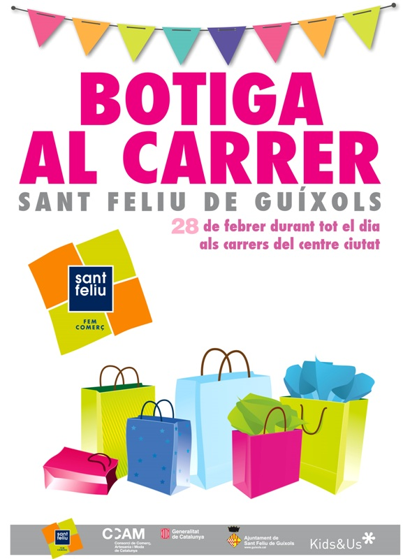 Nova edició de la Botiga al Carrer (dissabte 28 de febrer)