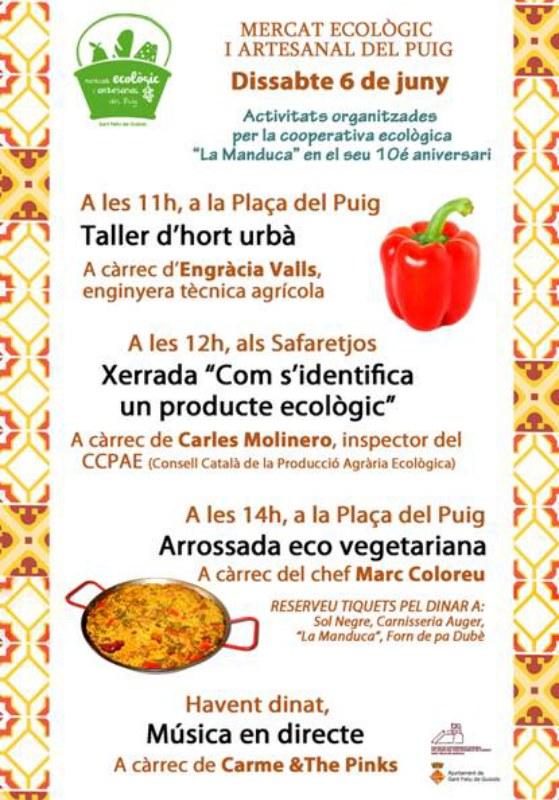 Mercat Ecològic i Artesanal del Puig, dissabte 6 de Juny