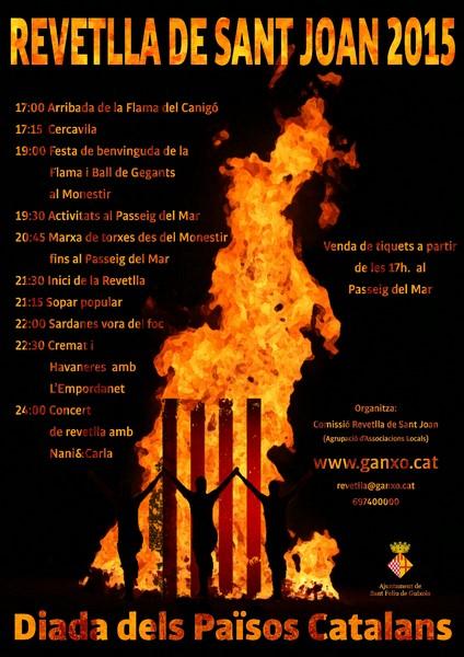 Revetlla de Sant Joan a Sant Feliu de Guíxols!