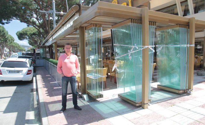 Conflicte per la terrassa precintada d'un restaurant a Platja d'Aro