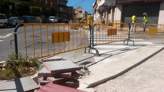 S'eliminen obstacles en les interseccions de l'avinguda Catalunya