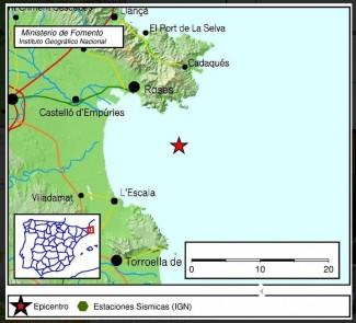 Un terratrèmol al Golf de Roses fa tremolar Sant Feliu de matinada