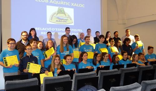 RECONEIXEMENTS A ESPORTISTES DEL CLUB AQUÀTIC XALOC