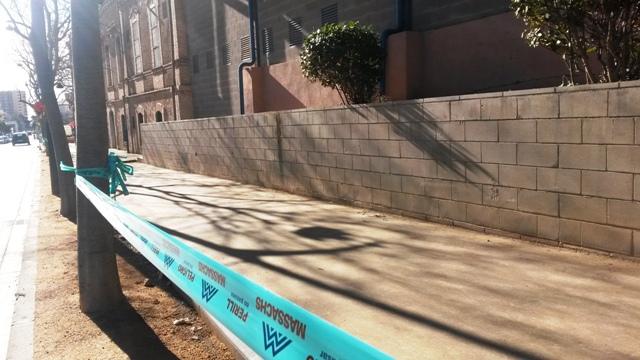 Dimarts finalitzen les obres de la vorera de l'escola l'Estació
