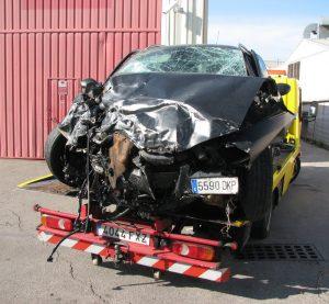 Fornells de la Selva. Una veïna de Cornella de Terri mor en un accident de trànsit a la C-65, a tocar de Girona. El conductor que va provocar el xoc frontal anava begut i no tenia carnet.