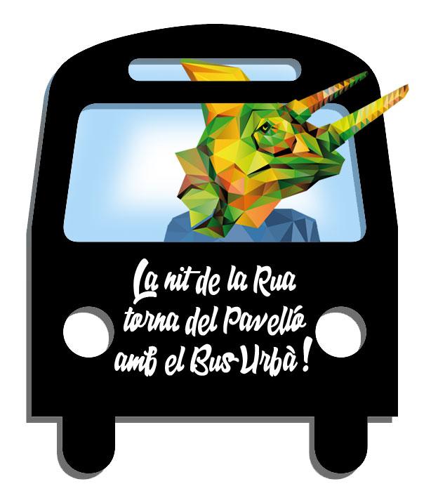 La Nit de la rua, torna del Pavelló amb el Bus Urbà