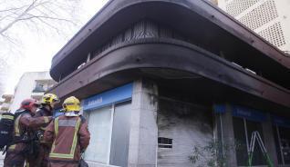 Incendi en una sucursal bancària de Platja d´Aro