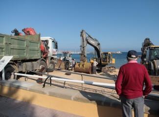 Compromís de Costes per dragar sorra a la platja de Sant Feliu
