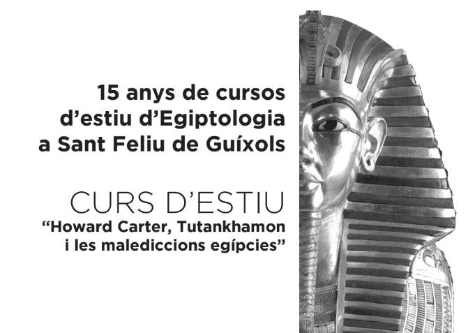 15 anys de cursos d'estiu d'Egiptologia a Sant Feliu de Guíxols