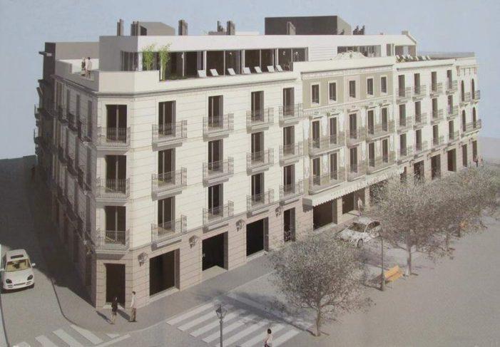 Façana definida per a l'hotel Elke a Sant Feliu