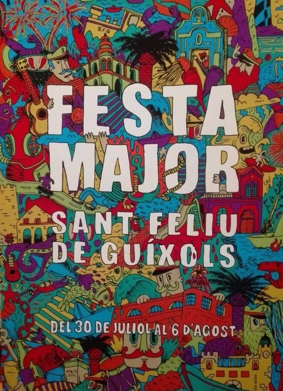 Un alegre cartell per anunciar la Festa Major!