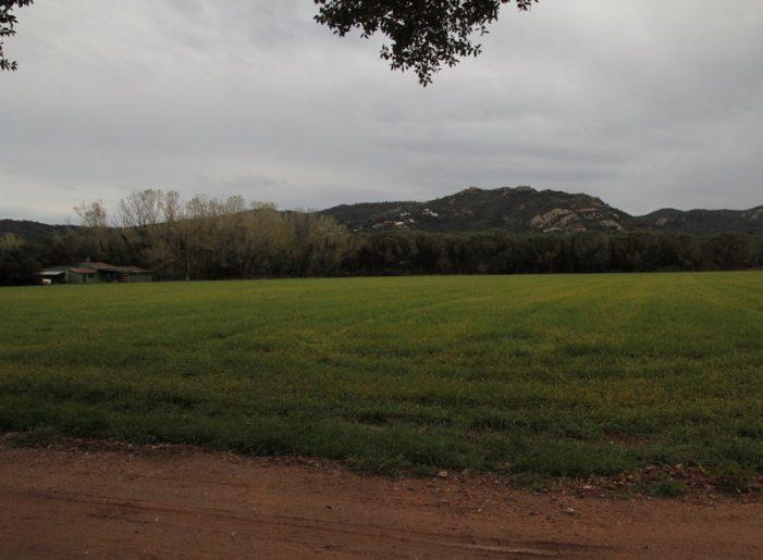 Llum verd a desviar la riera del Vilar a Santa Cristina