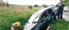 Xoquen tres vehicles entre Sant Feliu i Santa Cristina d'Aro